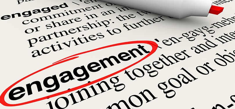 Image to depict engagement