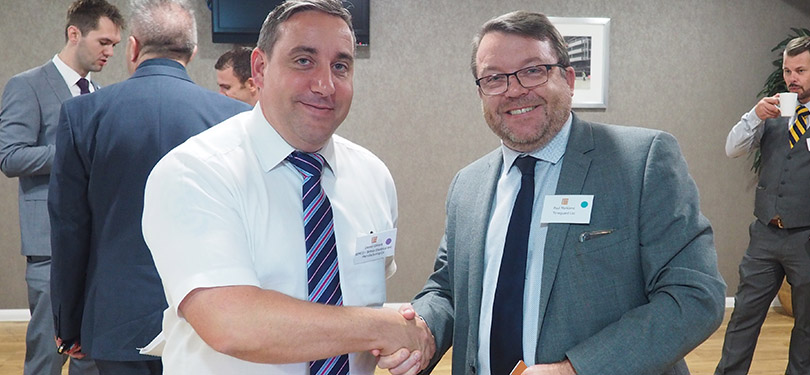 Daniel Gilliard of BEMCO with Paul Markland of Timeguard
