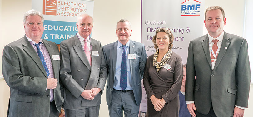John Henry (left) at the launch of the new Trade Supplier apprenticeship