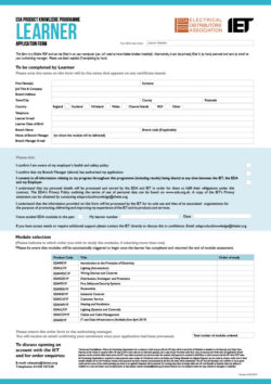 Learner Order Form for EDA Product Knowledge Modules