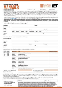 Manager Order Form for EDA Product Knowledge Modules