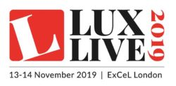 Logo for LuxLive 2019 at London's ExCeL