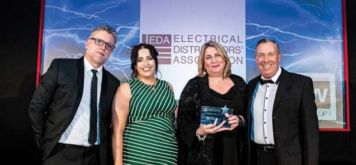 EDA Team collecting the Best Training Provider Award 2019