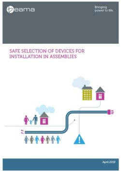Front cover of Beama guide to Safe Selection of Devices for Installation in Assemblies