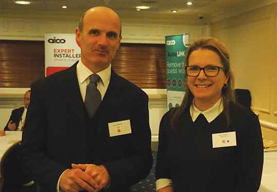 CEF's Alex Stratton with Hager's Nicky Surman