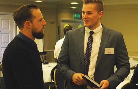 Delegates network at the EDA's Exeter Forum