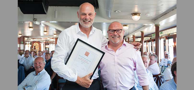 Chris Ashworth left, collected the Highly Commended Award from EDA President, Chris Gibson