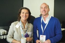 EDA CEO, Margaret Fiztsimons with Julian Barkes of BEMCO