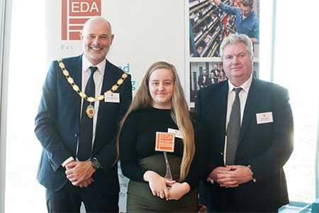 Hannah Long of Edmundson Electrical Ltd