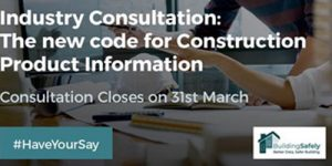 Consultation opens on new Code for Construction Product Information