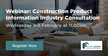 Construction Product Association webinar 11am on Wed 3 Feb 2021