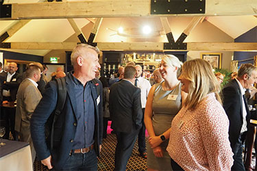 Andy Scothern of eCommonSense with Tracey Webley and Natasha Williams of Rexel UK Ltd
