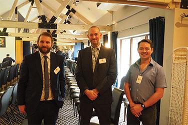 Daniel Davis, Rexel UK Ltd, Darren Jones, ECA, and Luke Osborne, ECA