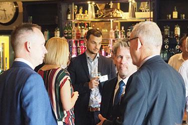 Delegates talking at the EDA Forum in Bristol