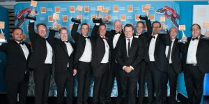 Rugby and Strictly star, Austin Healey, presents EDA trophies