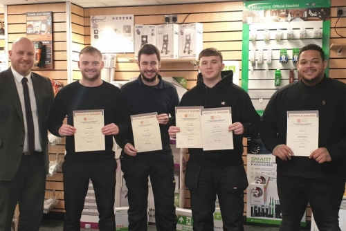 GA Nicholas Profit Centre Manager, Joe Roberts (far left) with his learners (from left to right) Corey Walker, Rhys Turner, Connor Gregory and Nicholas Gee