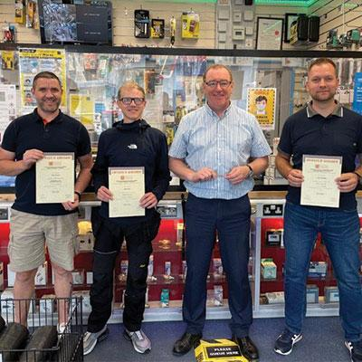 Congrats to the team from Eurosales in Ireland, Ringsend Branch. Left to right: Glenn Murphy, Adam Roche, David Donohue (Manager) and Lukas Plominski