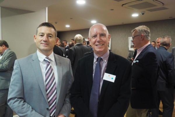 Darren Walker of Signify and Steve Laraway of Cembre Ltd