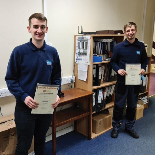 Distinctions for Robbie Cairns (l) and Lee Wales from BEMCO in Glasgow.