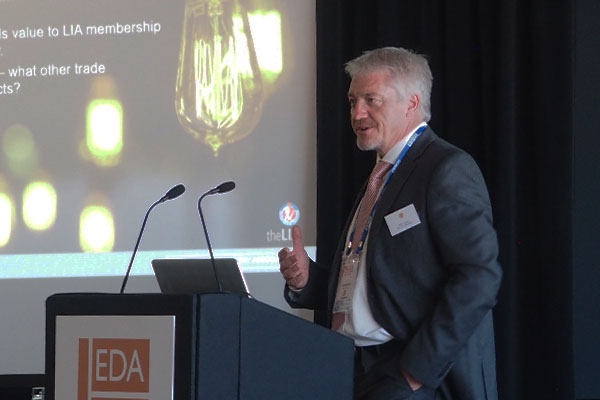 Presenter Steve Davies, CEO at the LIA