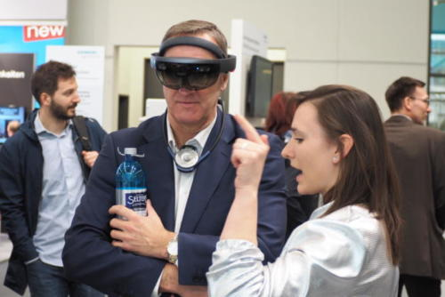 ANEW's CEO, Mark Lambert, in virtual reality